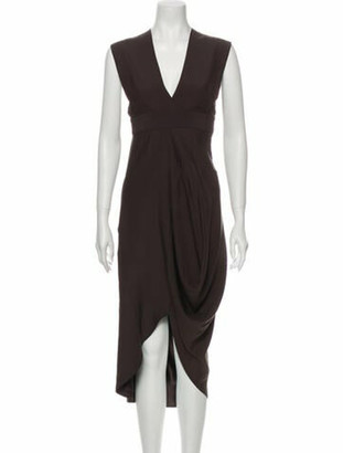 Zero Maria Cornejo Silk Midi Length Dress Grey