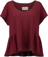 Current/Elliott The Girlie ruffled cotton-blend jersey T-shirt