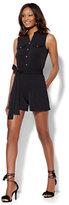 New York & Co. Belted Sleeveless Romper - Black