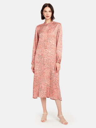 Norr Lennon Long Sleeve Midi Dress