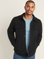 Old Navy Fleece-Knit Snap-Front Shirt Jacket for Men