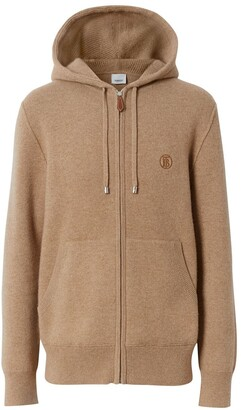 Burberry Embroidered Monogram Zipped Hoodie