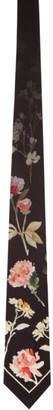 Paul Smith Black Silk Flower Tie