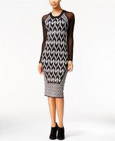 Rachel Roy Illusion Midi Sweater Dress