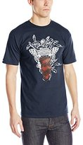 Crooks & Castles Men's Knit Crew T-Shirt - Medusa Speckle Tiger