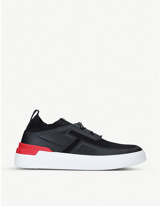 Tod's No_Code X leather and textile trainers