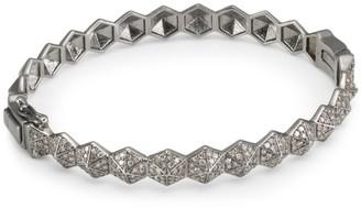 Nina Gilin Diamond Geometric Bangle