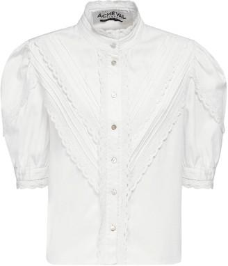 ÀCHEVAL PAMPA Yegua Stretch Cotton Satin Shirt