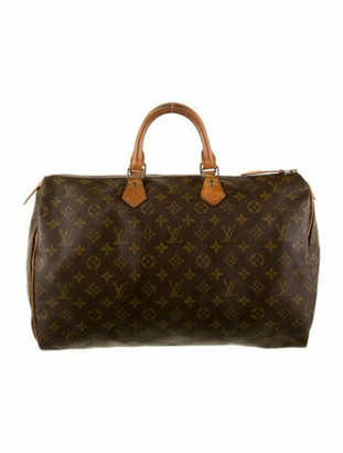 Louis Vuitton Vintage Monogram Speedy 40 Brown