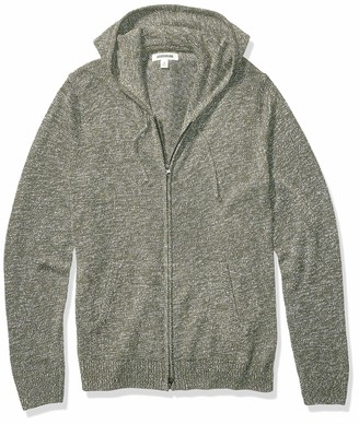Goodthreads Amazon Brand Men's Supersoft Marled Fullzip Hoodie Sweater