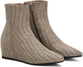 Aquatalia Palmer Weatherproof Croc Leather Bootie