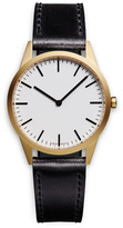 Uniform Wares C35 Men's two-hand watch in PVD gold with black nitrile rubber strap