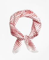 Brooks Brothers Polka Dot Square Scarf