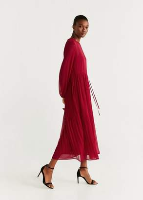 MANGO Pleated chiffon dress