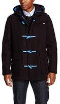Gloverall Men's Pop Leather Duffles M Coat,Medium (Manufacturer Size:Medium)