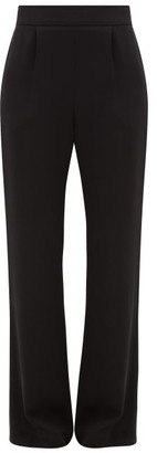 LA COLLECTION Gabrielle Wide-leg Silk-crepe Trousers - Black