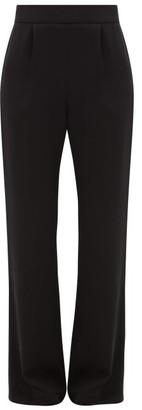 La Collection - Gabrielle Wide-leg Silk-crepe Trousers - Womens - Black