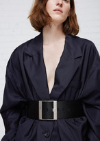 Maison Margiela black wide leather belt