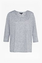 French Connection Hetty Marl Linen Blend T-Shirt
