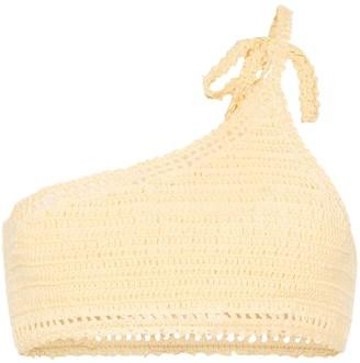 She Made Me Essential crochet one-shoulder bikini top