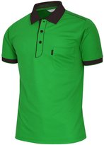 BCPOLO Men's Athletic Polo Dri-Fit Short Sleeve Polo Shirt- XL