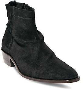 AllSaints Men's Harris Side Zip Slouch Boots