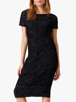 Phase Eight Anette Tapework Dress, Black/Navy