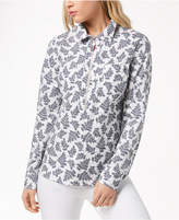 Tommy Hilfiger Cotton Printed Half-Zip Top, Created for Macy's