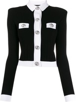 Balmain buttoned-up cropped cardigan