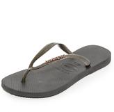 Havaianas Slim Logo Metallic Flip Flops
