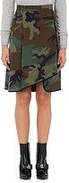 Harvey Faircloth Women's Camouflage-Print Cotton Asymmetric Wrap Skirt