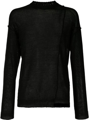 Isabel Benenato Long-Sleeve Fitted Jumper