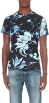 Diesel X-ray floral print t-shirt