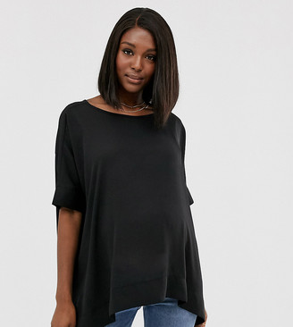 ASOS DESIGN Maternity oversized kimono t-shirt with v back