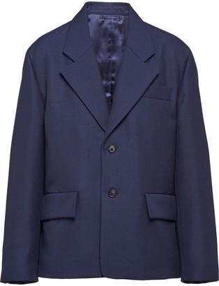 Prada Single-Breasted Wool Blazer