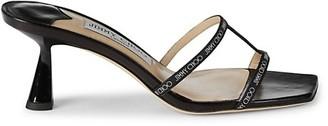 Jimmy Choo Logo Tape-Strap Sandals
