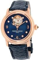 Frederique Constant Women's 'Heart Beat' Swiss Automatic Gold and Leather Dress Watch, Color: (Model: FC-310HBAND2P4)