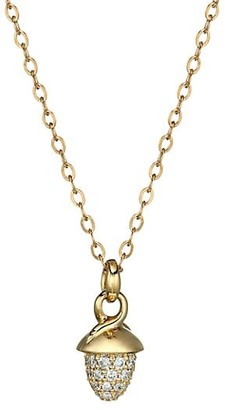 Tamara Comolli Mikado 18K Yellow Gold & Diamond Pave Acorn Pendant Necklace