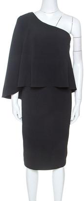 Roland Mouret Black Crepe One Shoulder Amaral Dress M