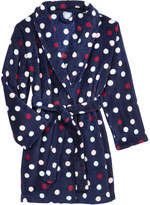 Max & Olivia Dot-Print Belted Robe, Little Girls (2-6X) & Big Girls (7-16), Created for Macy's