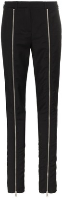 Givenchy slim leg zip front trousers