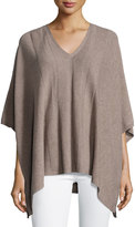 Neiman Marcus Cashmere Featherweight Poncho, Tan