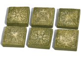 Georgetown Home and Garden Miniature Fairy Garden Stepping Stones, Ancient Square, Set of 6