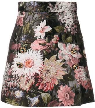 Dolce & Gabbana Floral Brocade Short Skirt
