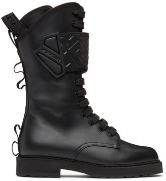 Fendi Black Forever Rockoko Biker Boots