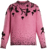 Prada Bead-embellished mohair-blend sweater