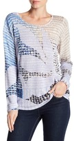Nic+Zoe Flower Print Sweater