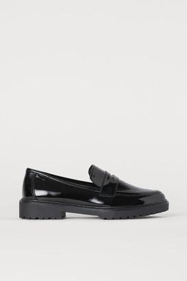 H&M Patent Loafers - Black