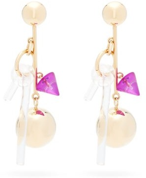 Colville - Cluster Ball-drop Earrings - Gold