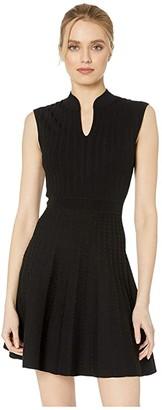 Ted Baker Sharnn Stitch Detail Skater Dress (Black) Women's Clothing